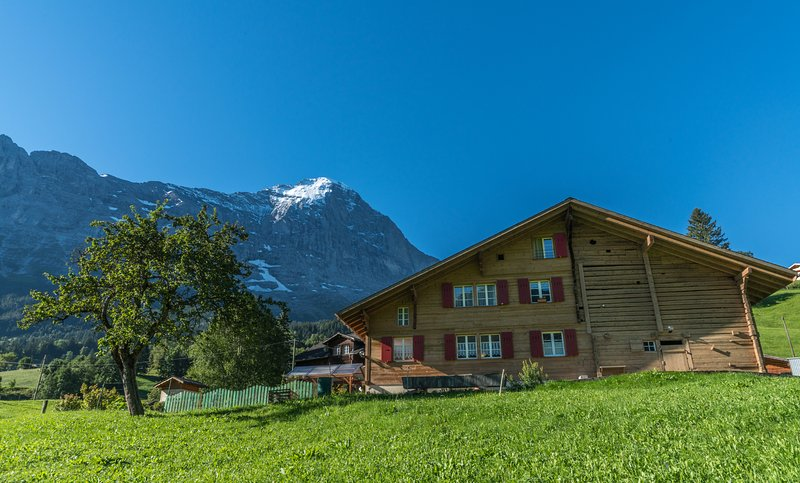 Chalet in floor overlooking the Eiger North Wall