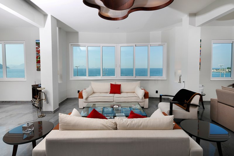 Living room, with ocean view.