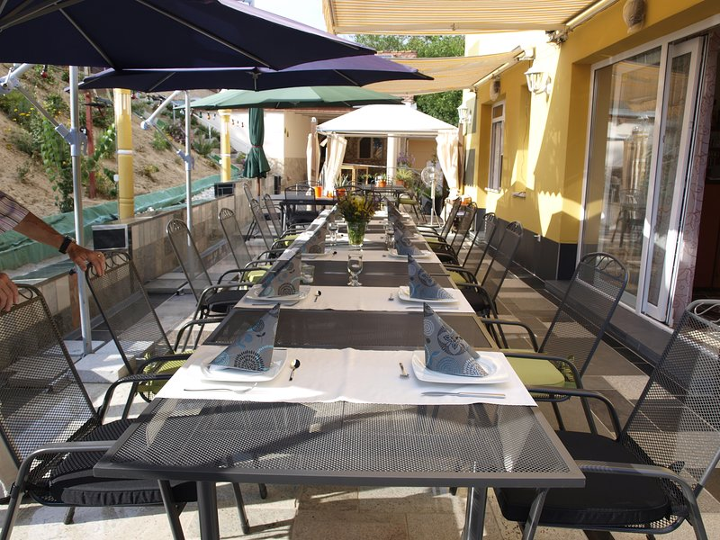 Adjacent to the apartment building, our country inn Hegau German cuisine