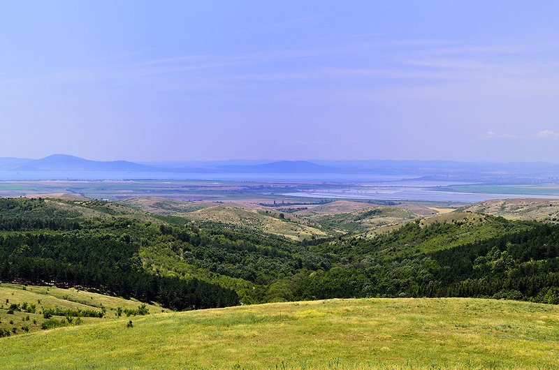 View to Black sea and Burgas.