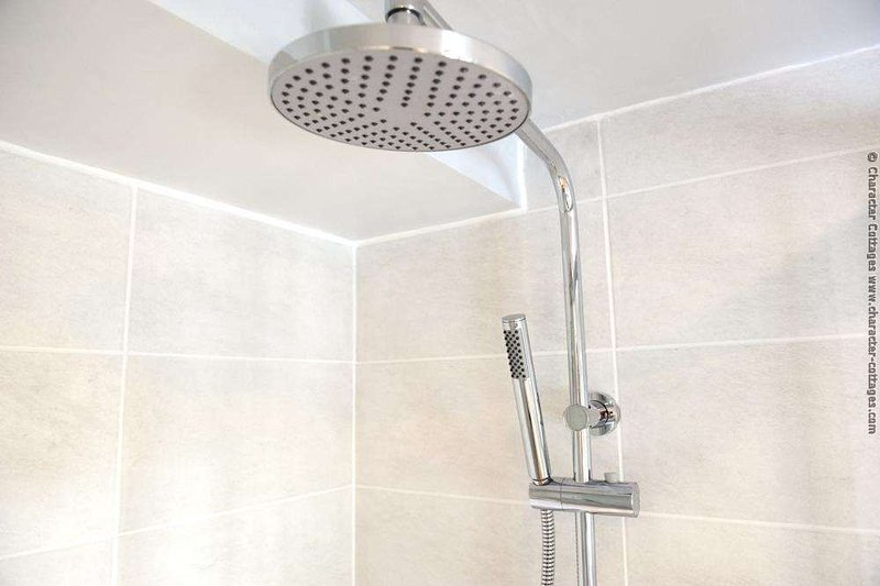 Rain shower head with additional attachment