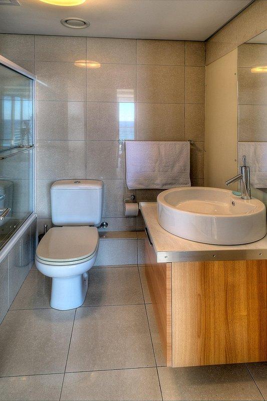 Bathroom with shower in bath