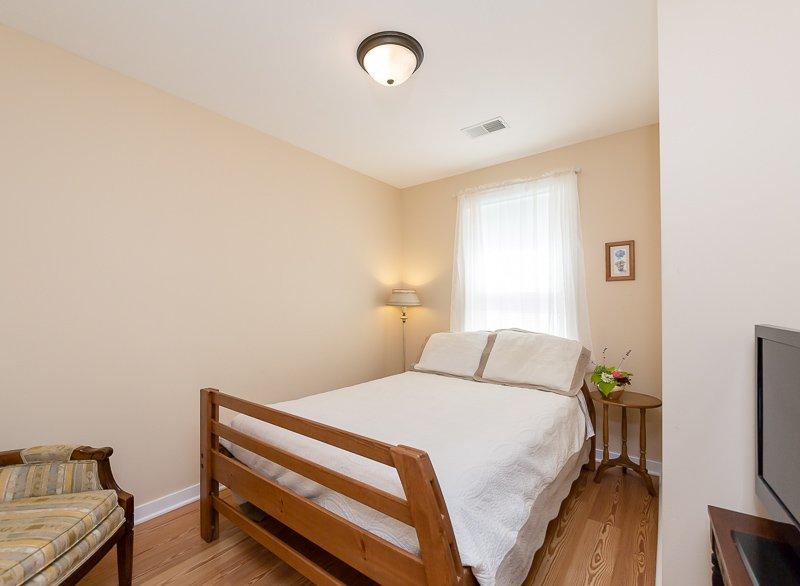 Fresh bedroom with full-sized bed