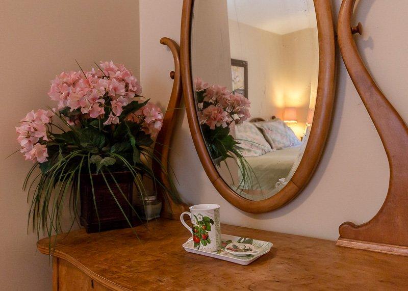 Beautiful detail in master bedroom