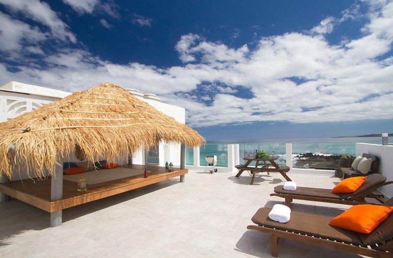 Roof Terrace Bay cama, compartida solo con otra casa de vacaciones.