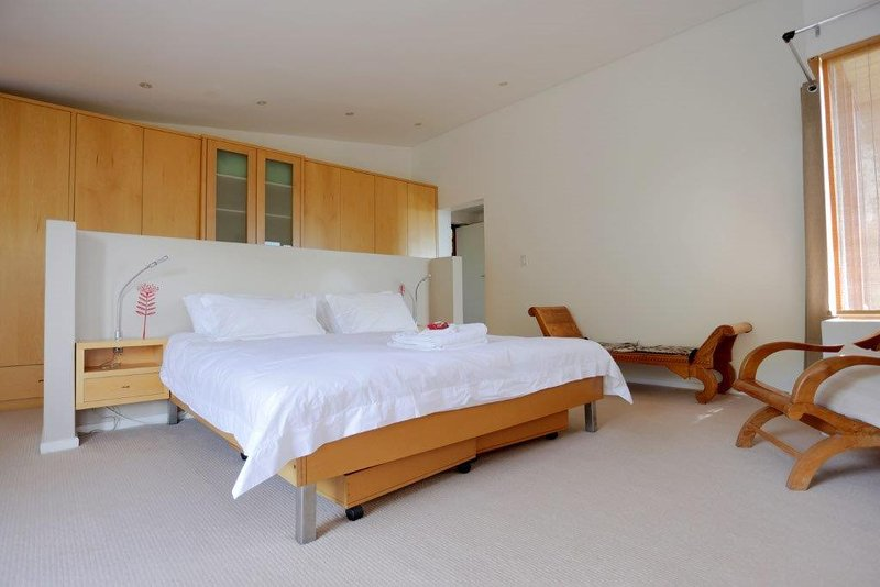 Spacious main bedroom with views