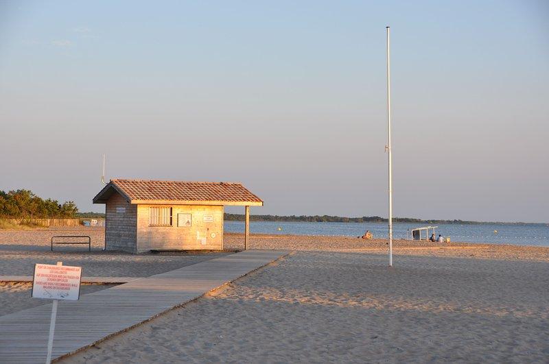 praia principal em Hourtin-Port