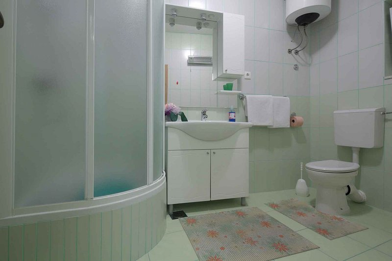 A-Zeleni (2+2): bathroom with toilet