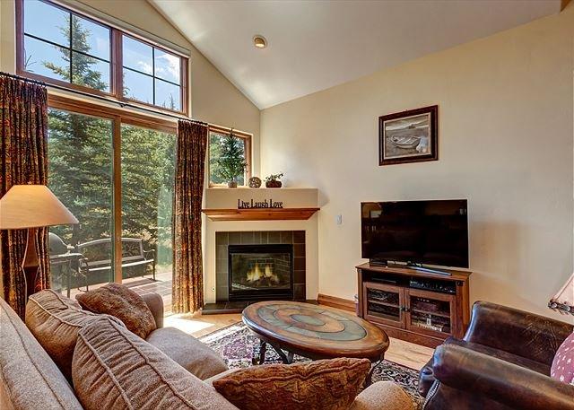 Highland Greens Living Area Breckenridge Lodging Vacation Rental