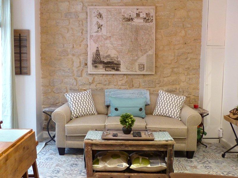 Visão geral sala de estar / sofá-cama