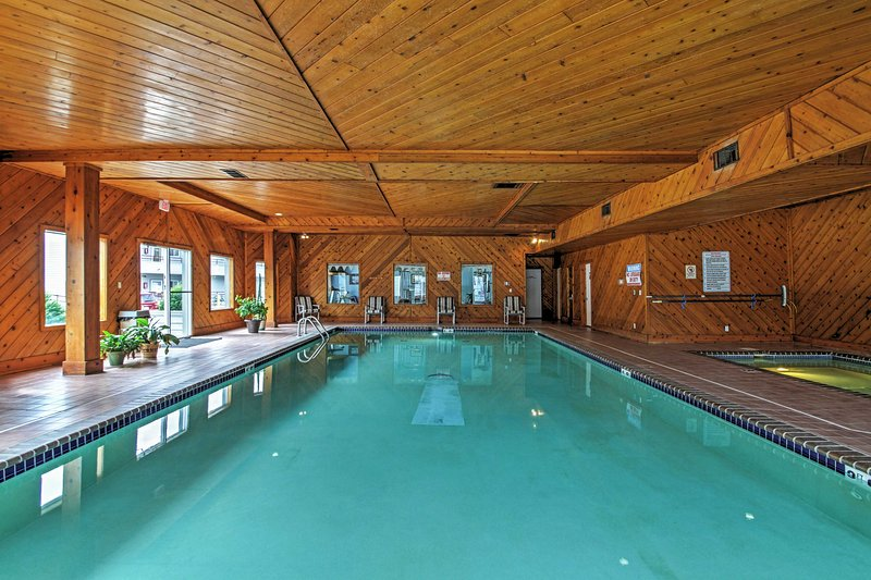 You'll have access to both the indoor and outdoor pools!