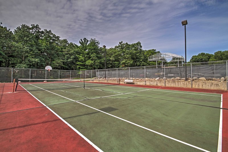 Enjoy a rousing match on the community tennis courts!