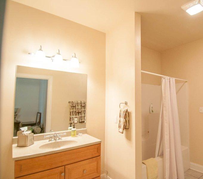 Complete badkamer in de kelder