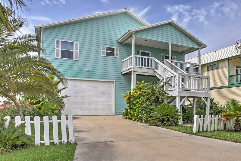 Elevate your Texas retreat when you book this stunning Port Aransas home.