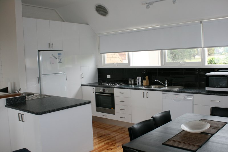 Kitchen upstairs- all mod appliances. Fridge/freezer, dishwasher, microwave, stove, oven , kettle.