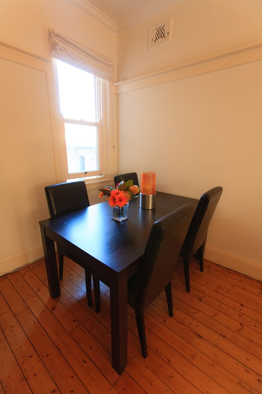 Dining table and chairs, seats 6