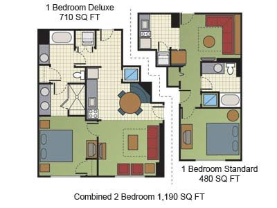 Floorplan for the 1br units.