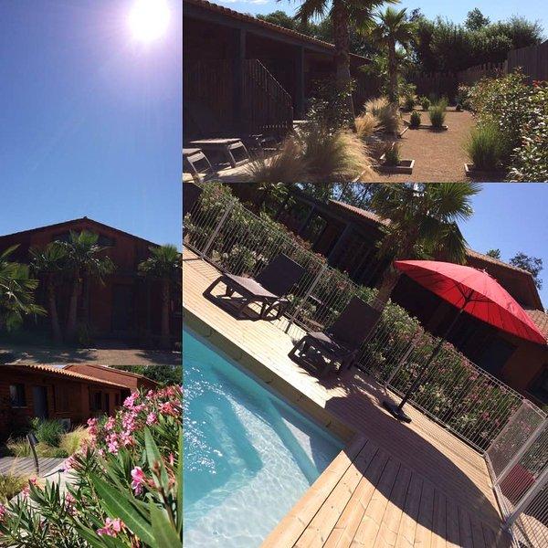 Jardins ,piscine saison ,appartements ossature bois Les plaines de grimaud