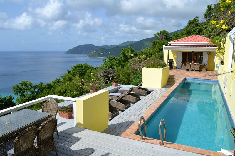 The beautiful Villa and views await you. The pool has deep diving end and an aerobics platform.