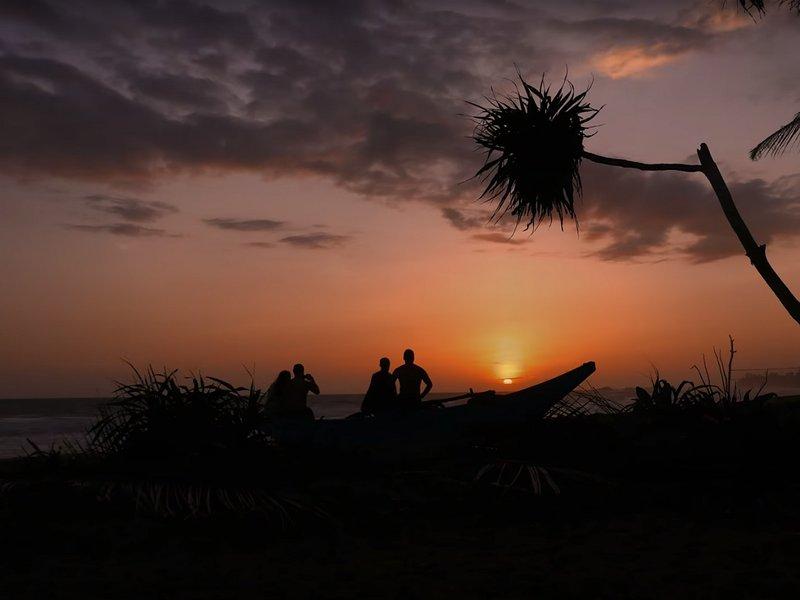 Une autre coucher de soleil pris directement en face de la maison de plage.