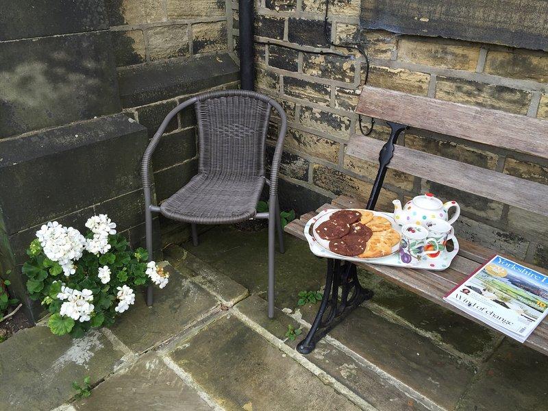 té de la tarde en el patio, mientras que usted se sienta en el sol admirando la vista.