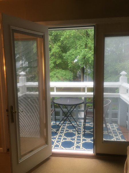 French doors leading to the balcony