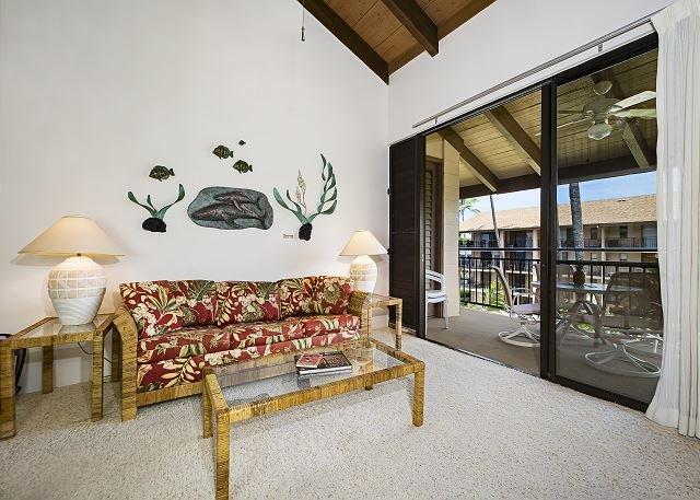 Grand salon avec des plafonds voûtés