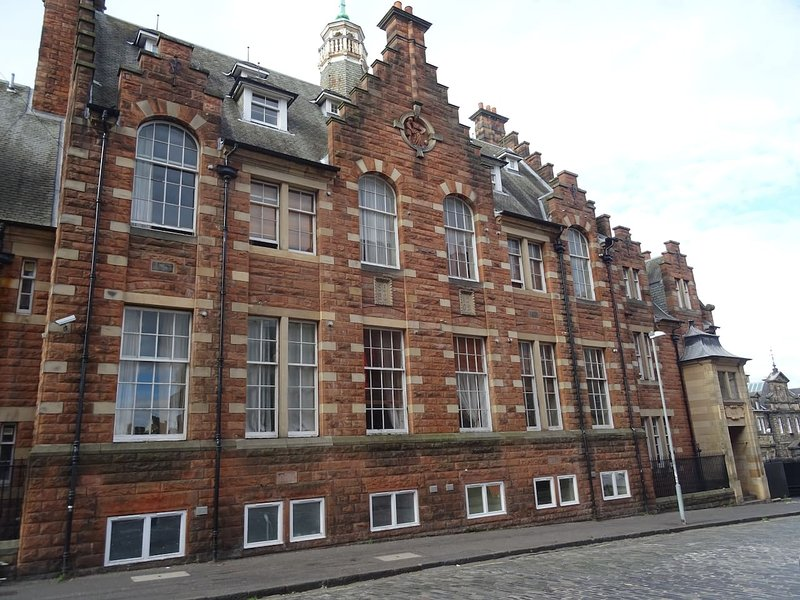 The apartment is on the 1st floor of a former Edinburgh school