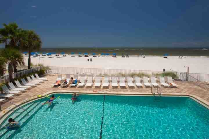 Overlooking the Pool and Madeira Beach