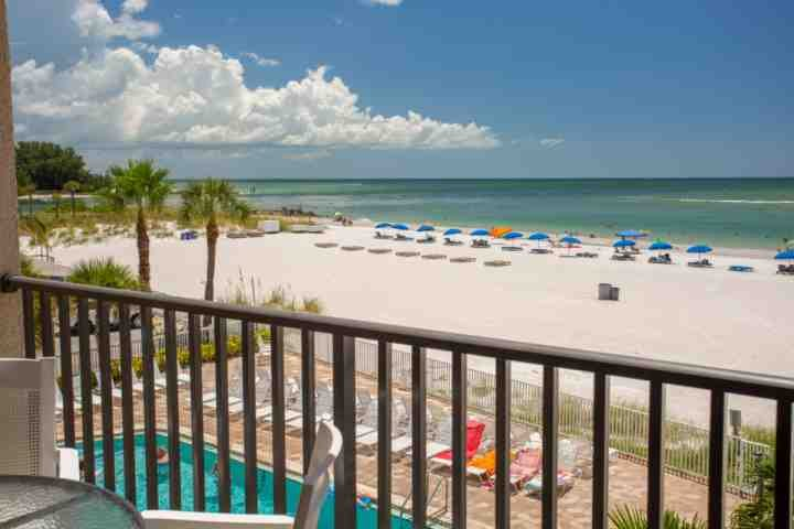 Beachfront Private Balcony Overlooking John's Pass and Gulf of Mexico