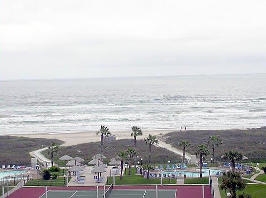 S3802 Balkon Aussicht auf Strand