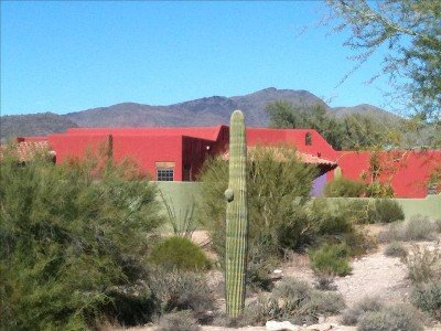 PAINTED CAREFREE, CAREFREE ARIZONA is a beautiful home with a pool and spa.  Very private!