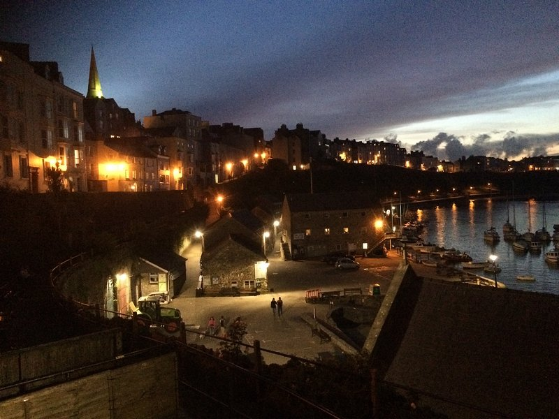 Tenby by night - just 8 miles from your chalet. Night life and restaurants