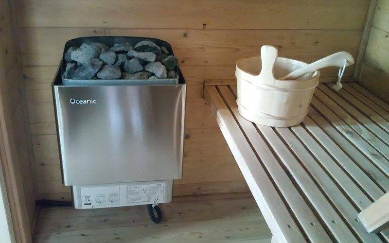 Sauna de vapor (disponible por separado de reserva)