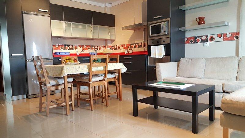 Das groß, hell, komfortabel, voll ausgestattete Räume