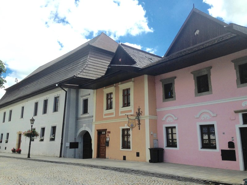 Boutique cafes and restaurants at Spisska Sobota, old part of Poprad town