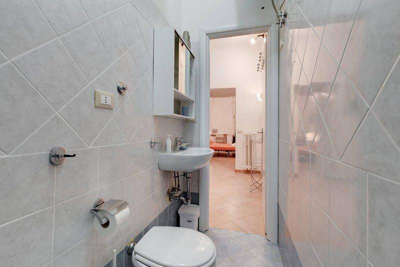 Duschgel, Fön und Handtücher-Set zur Verfügung gestellt (Dusche-face-Hände)