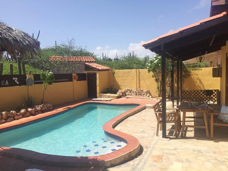 Backyard of Villa Tibushi Aruba
