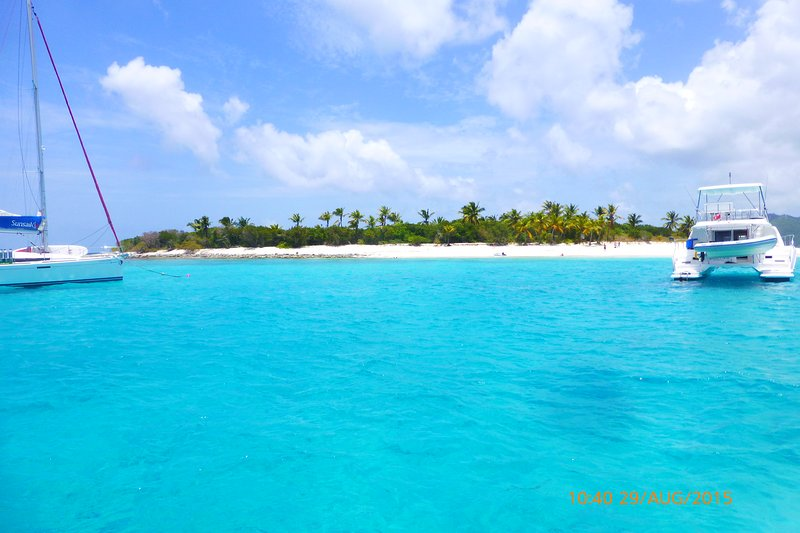 The House Looks over to Sandy Cay. Amazing 18 acre nature reserve is worth taking a picnic lunch to.