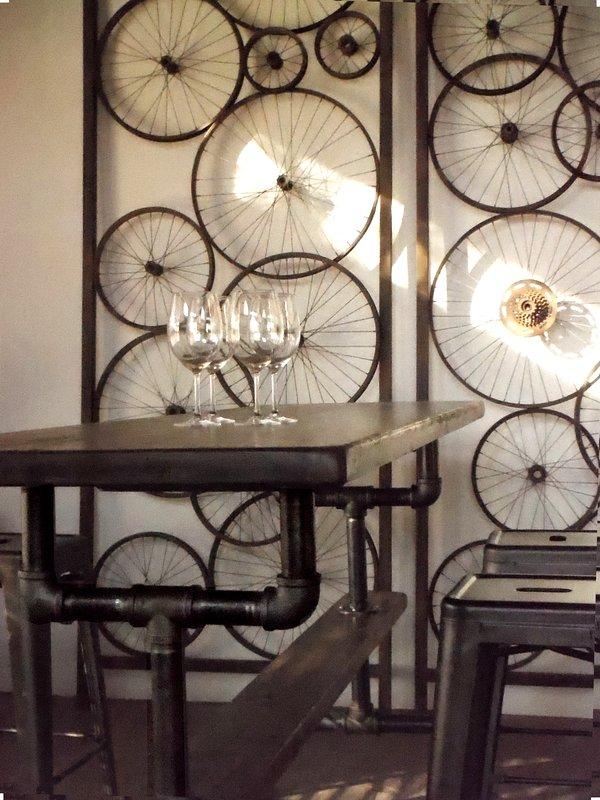 Original Art, Industrial custom built gathering table.