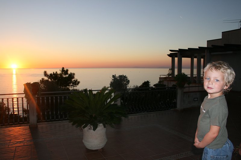 The Sunset from Villa Bella Vista