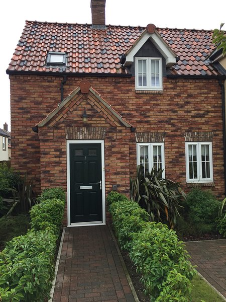 Beautiful cottage at 1 Green Close, The Bay, Filey.  Front of Property.