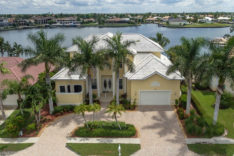 Front Aerial View with Landmark Bay as your backyard