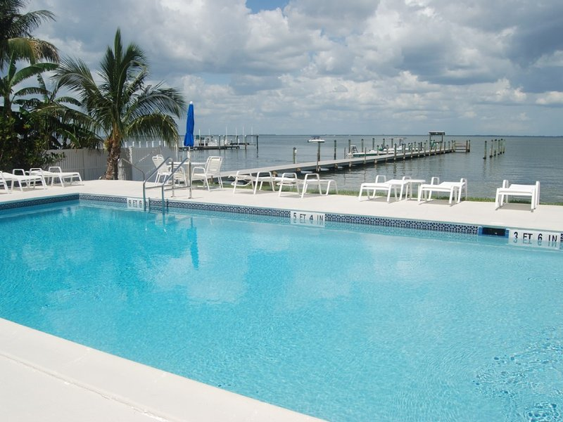 Captiva Hide-A-Way boasts one of the best pool settings on the island.