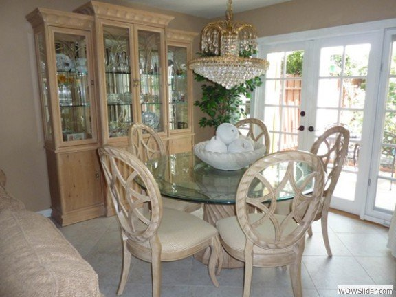 Dining Area / french doors to patio