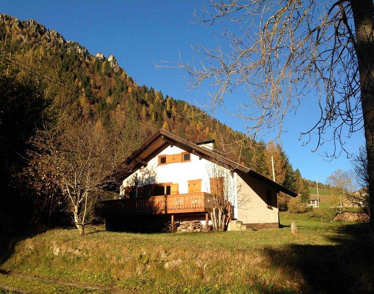 Tra le Dolomiti del Trentino: relax in baita, location de vacances à Mezzano