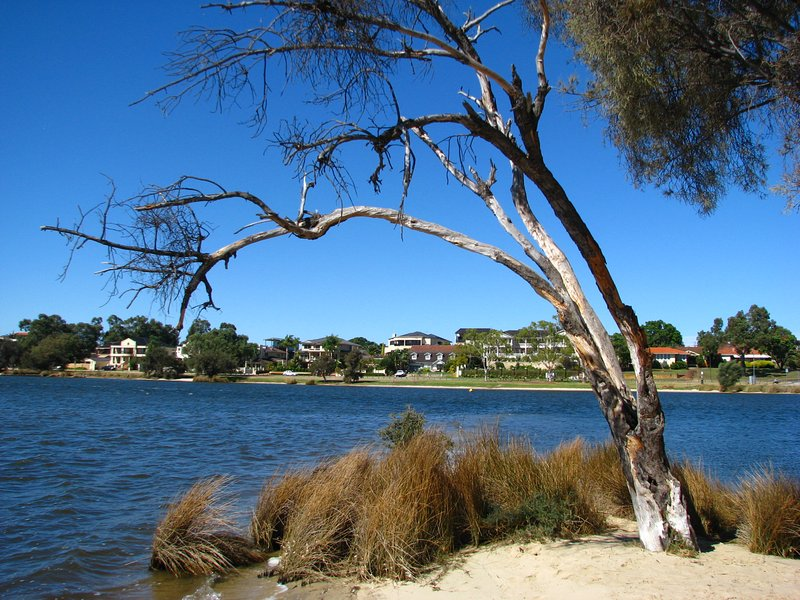 It's a short walk to the Canning River