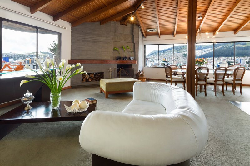 This luxury penthouse is   In La Mariscal just two blocks from Plaza Foch and offers amazing views!