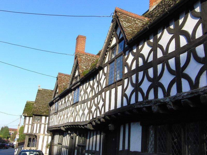 The impressive Tudor Porch House on Potterne High Street  (1 minute away)