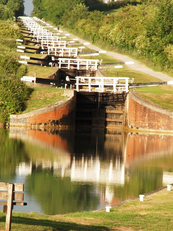 The famous Caen Hill flight of locks on the Kennet and Avon canal - only 5 minutes away.